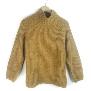 Faherty Marled Knit Mockneck Sweater Size L